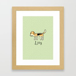 Cute Beagle Dog &joy Doodle Framed Art Print