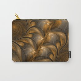 Warming, Luminous Abstract Fractal Art Carry-All Pouch