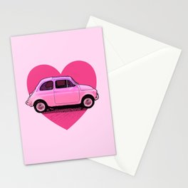 The Pink 500 Car Lover Stationery Cards