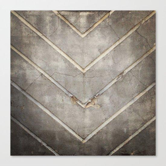 Concrete Chevron Canvas Print