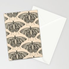 swallowtail butterfly pale peach black Stationery Cards