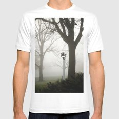 Misty school bell in autumn MEDIUM Mens Fitted Tee White