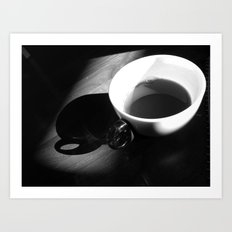 Tea and Light Art Print