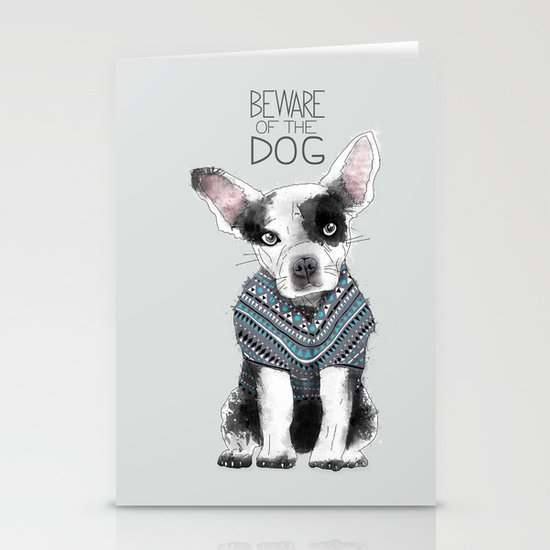 Beware of the dog Stationery Cards