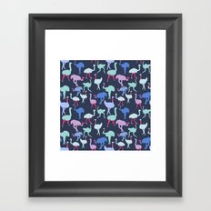 Ostrich Pattern Framed Art Print