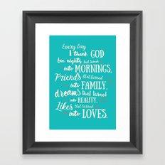 Thank God, inspirational quote for motivation Framed Art Print