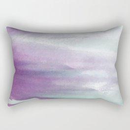 Purple green watercolor swash Rectangular Pillow