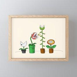 Mario Bros Plants Framed Mini Art Print