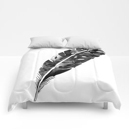 Watercolor feather Comforters