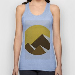 Abstraction_Mountains_YELLOW_001 Unisex Tank Top