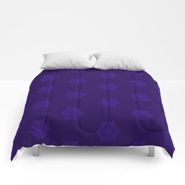 Snowflake I Purple Comforters