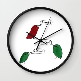 Tweet Retweet Wall Clock