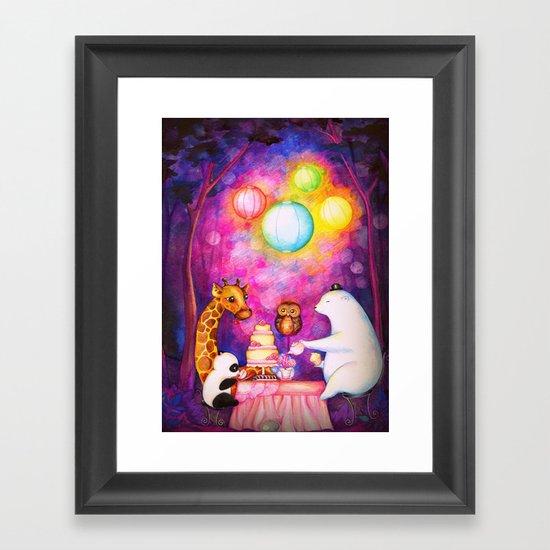 Woodland Tea Party Framed Art Print