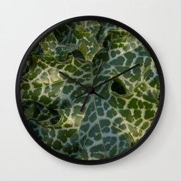 Milk thistle, silybum marianum leaves Wall Clock