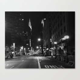 Lexington Ave.  1:15am Canvas Print