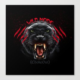 Wild Mode. Bjj, Mma, grappling Canvas Print