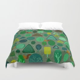 squirrel in forest Duvet Cover
