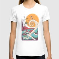 mountain T-shirts featuring Surf Before Christmas by Victor Vercesi