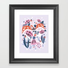 Alice in Winterland Framed Art Print