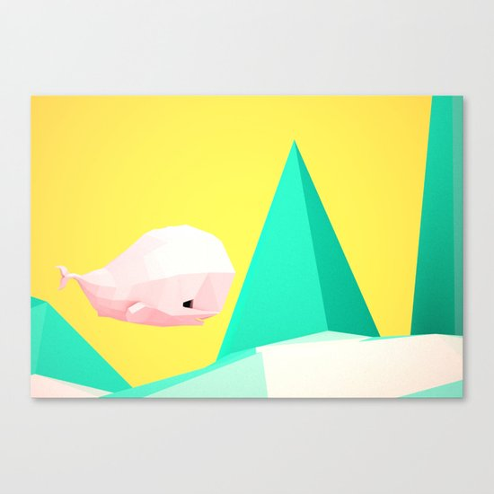 {W} Canvas Print