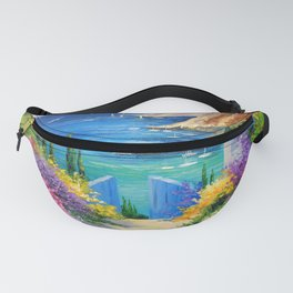 Sunny road to the sea Fanny Pack