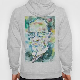 EDMUND HUSSERL - watercolor portrait Hoody