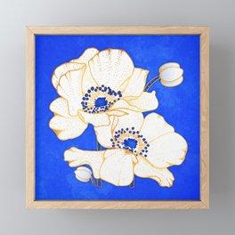 Ultramarine Blue :: Anemones Framed Mini Art Print