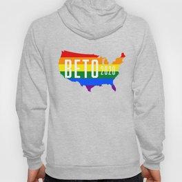 Beto 2020 GLBT / LGBT Rainbow Flag: Beto Orourke For President Campaign Sticker and Shirt Hoody