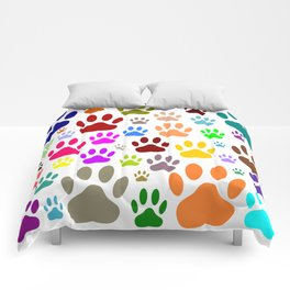 Dog Paw Prints All Over Comforters