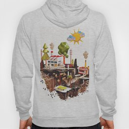Floating Island in Low Poly style Hoody