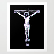 3d Jesus Art Print