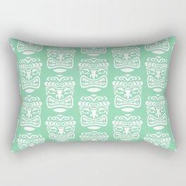 Tiki Pattern Mint Green Rectangular Pillow