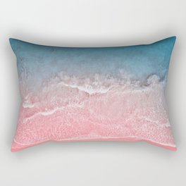 Bahamas pink blue Rectangular Pillow