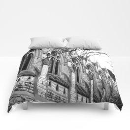 B&W Church Photography Comforters