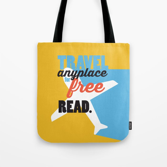 Travel - Just Read Tote Bag