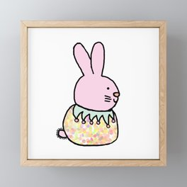 Cute Pink Rabbit - a bunny for spring and Easter Framed Mini Art Print