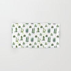 watercolour cacti and succulent Hand & Bath Towel