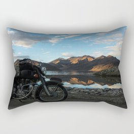 Lonely rider in the evening light...  Rectangular Pillow