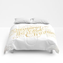 Dreaming of a White Christmas Comforters