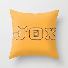 Monster University Fraternity : Jaws Theta Chi Throw Pillow