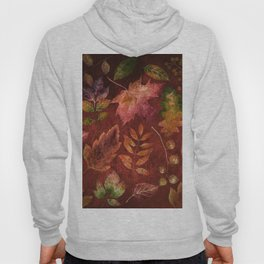 My favorite color is october- Colorful autumnal leaves pattern Hoody