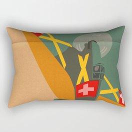 Swiss airplane poster, vintage D3801, ShreddyStudio Dennis Weber Rectangular Pillow