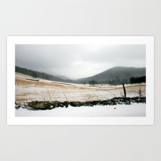 Mountain Winter Art Print