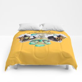 Meditate (mellow yellow) Comforters