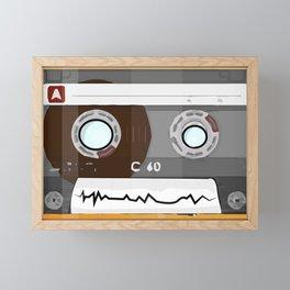 The cassette tape Robot Framed Mini Art Print