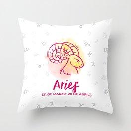 Zodiac signs collection - Aries Delvallediseno Throw Pillow