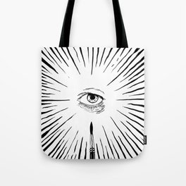 The Man With The Golden Eyeball Tote Bag