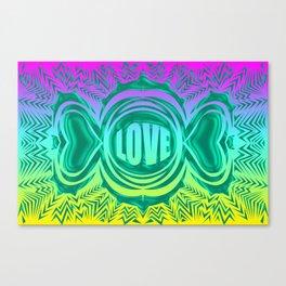 heart center blue Canvas Print