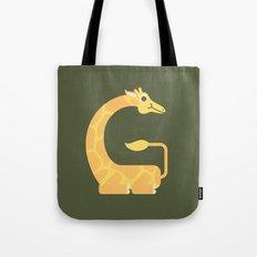 Letter G // Animal Alphabet // Giraffe Tote Bag