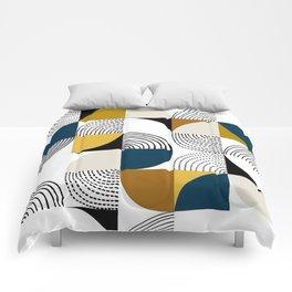 Curves Blue Comforters